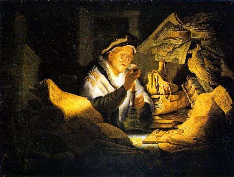 Притча о богаче   Рембрандт Харменс Ван Рейн