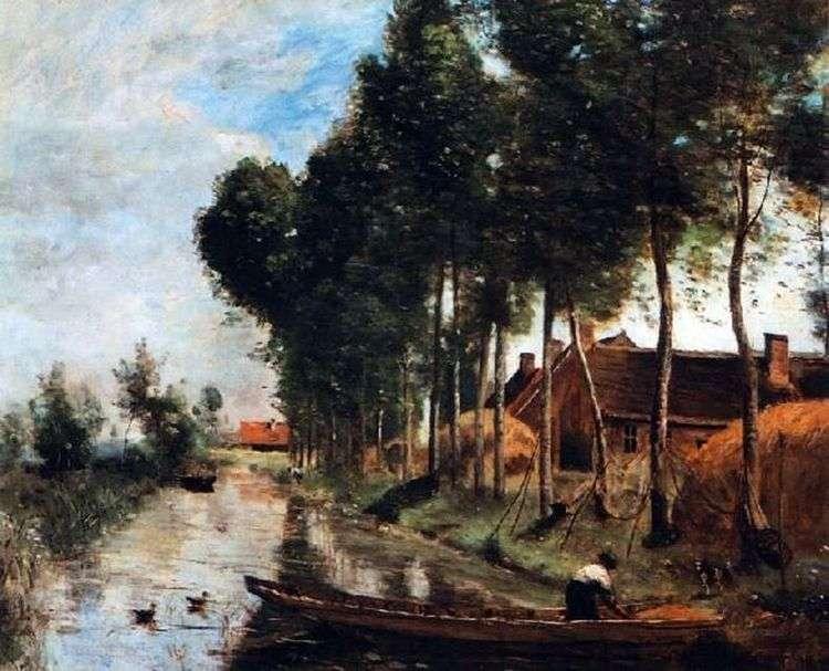 Пейзаж в Арле дю Нор   Камиль Коро
