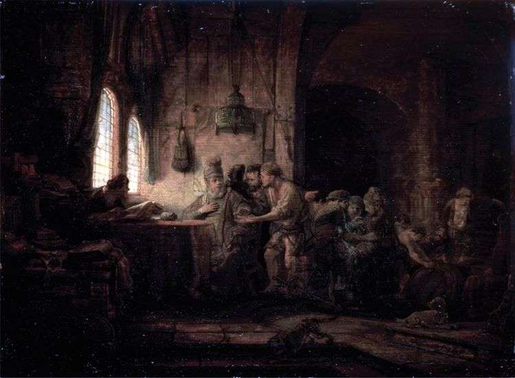 Притча о работниках на винограднике   Рембрандт Харменс Ван Рейн