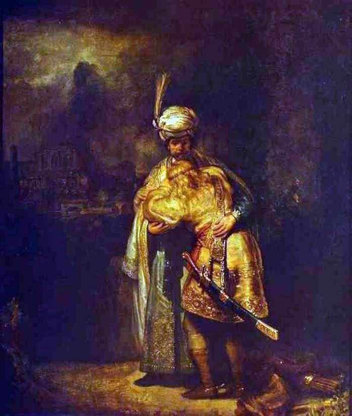 Прощание Давида с Ионафаном   Рембрандт Харменс Ван Рейн