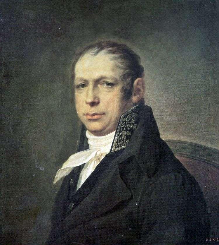 Портрет архитектора Адриана Дмитриевича Захарова   Степан Щукин