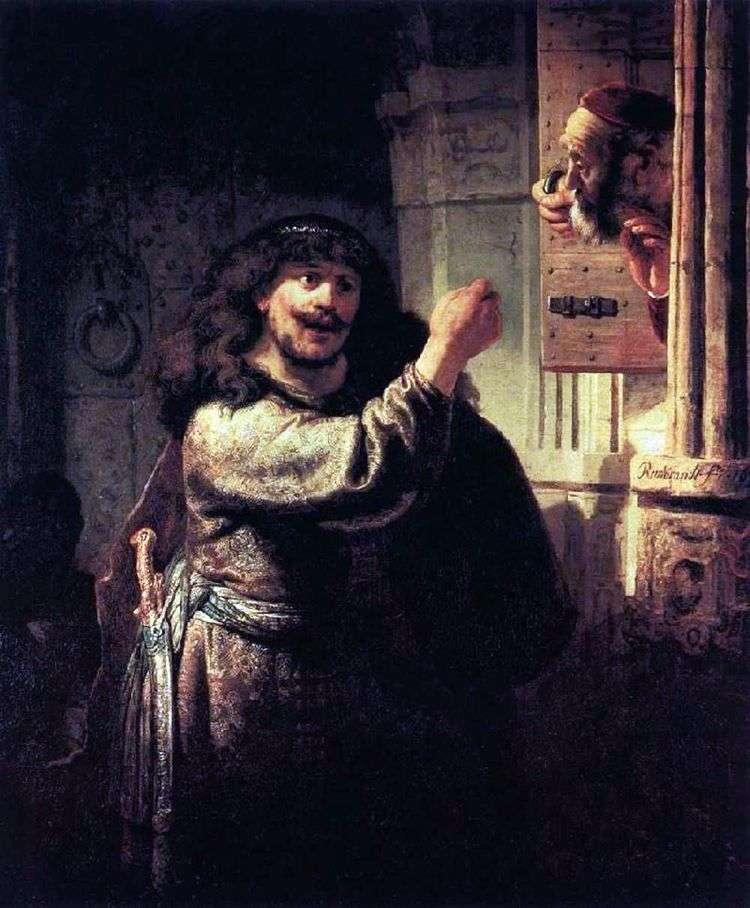Самсон угрожает тестю   Рембрандт Харменс Ван Рейн