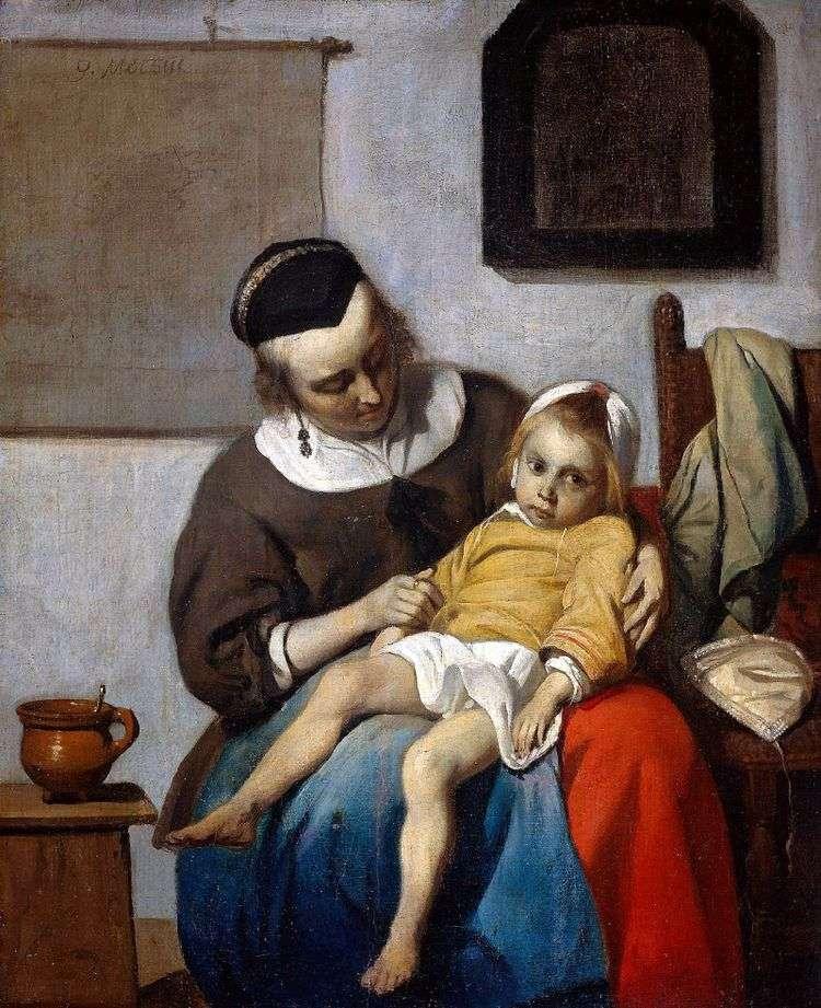 Больной ребенок   Габриэль Метсю