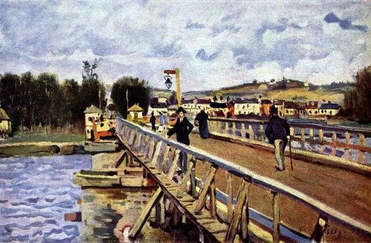 Мост в Аржентее   Альфред Сислей