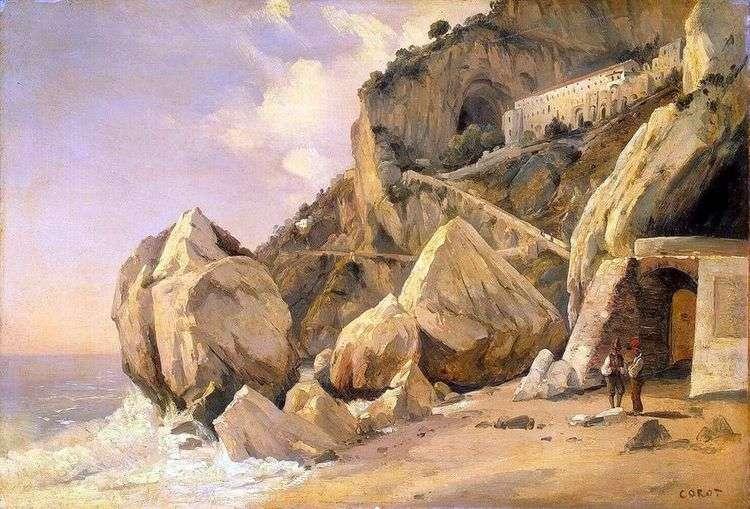 Скалы в Амальфи   Камиль Коро