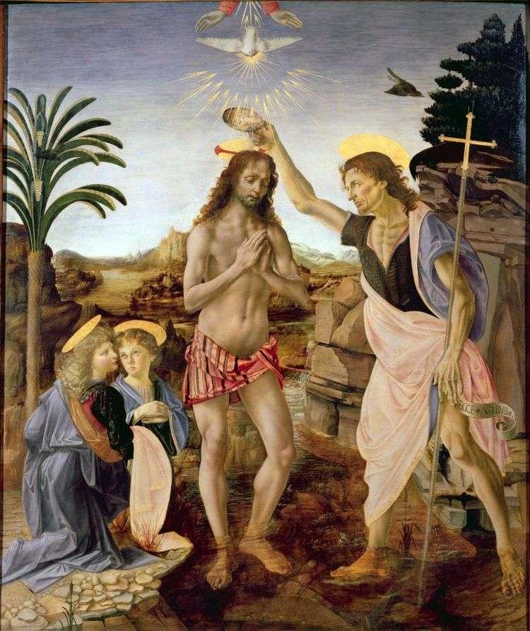 Крещение Христа   Андреа дель Верроккьо
