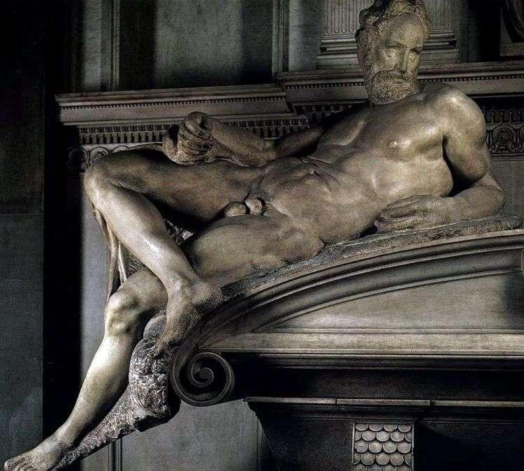 Вечер (скульптура)   Микеланджело Буонарроти