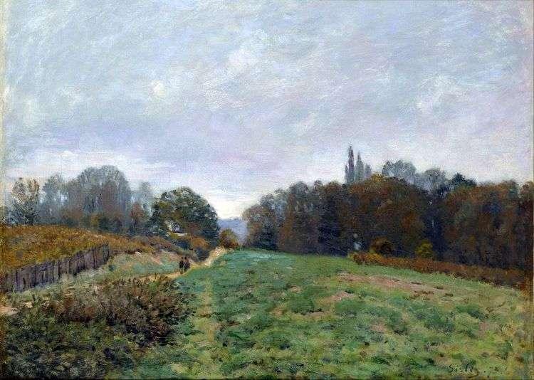 Пейзаж в Лувесьенне   Альфред Сислей