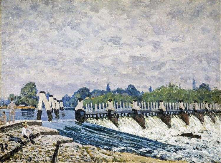 Плотина в Моулси, близ Хэмптон Корта   Альфред Сислей