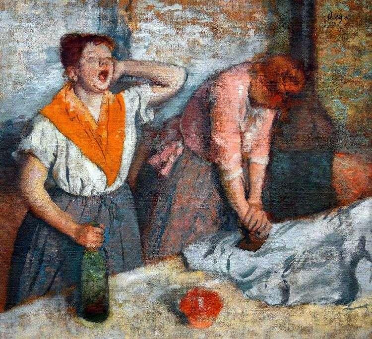 Две гладильщицы   Эдгар Дега