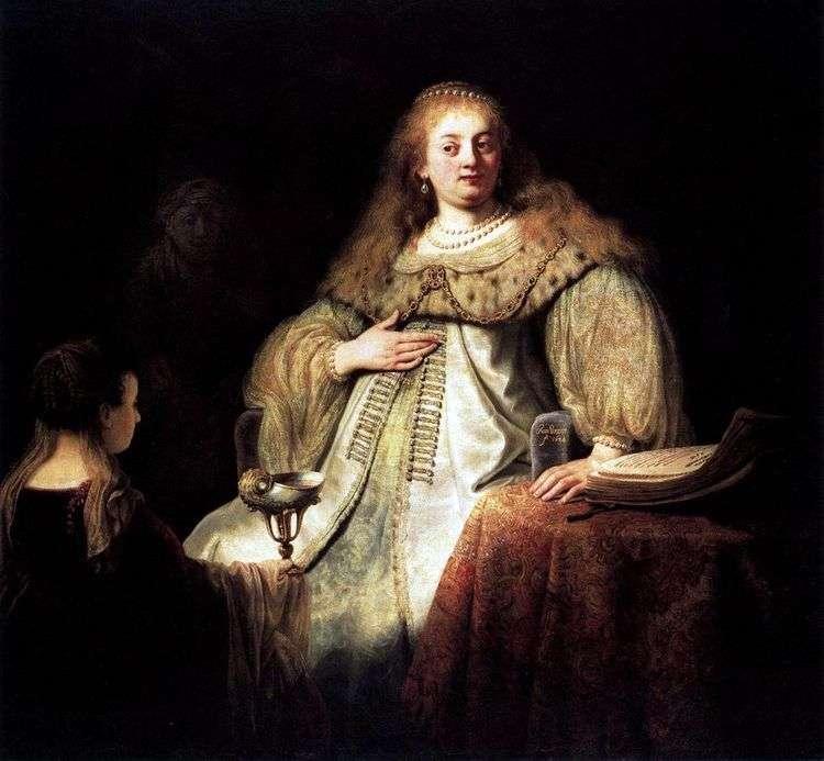 Софонисба принимает чашу с ядом   Рембрандт Харменс Ван Рейн