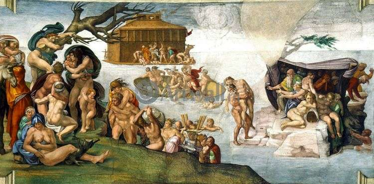 Всемирный потоп   Микеланджело Буонарроти