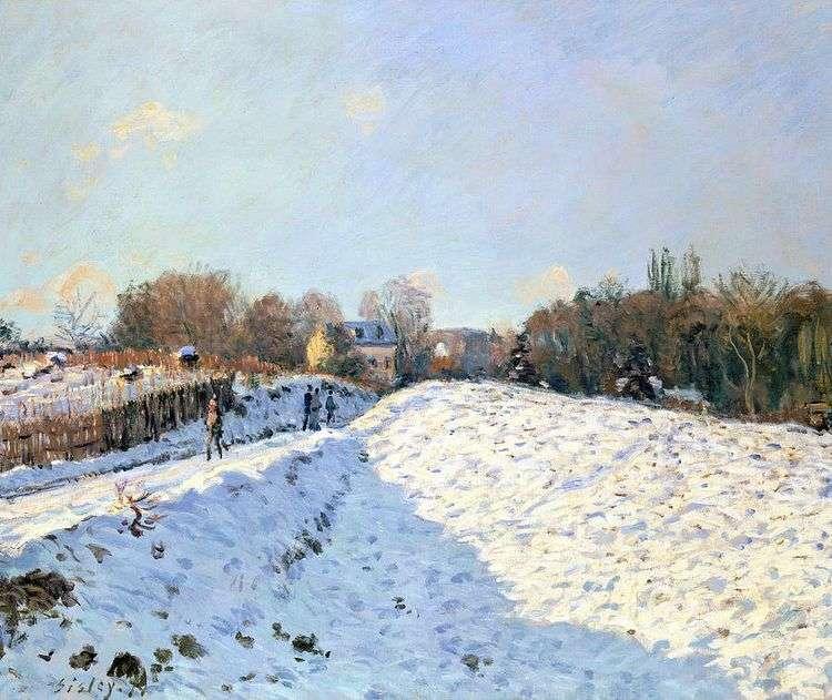 Снег в Аржентее   Альфред Сислей