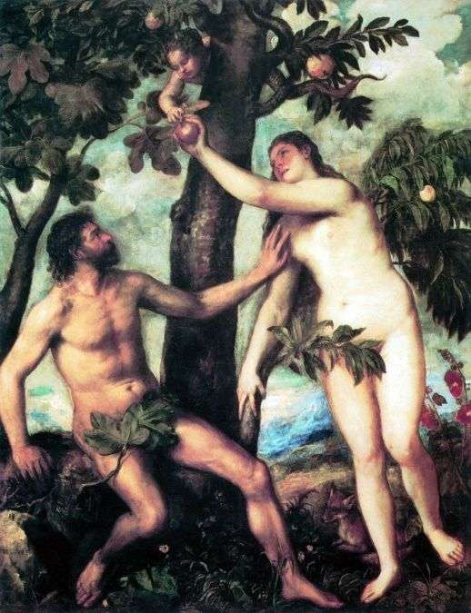 Адам и Ева   Тициан Вечеллио