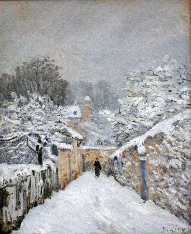Снег в Лувесьенне   Альфред Сислей