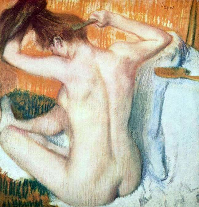 Женщина за туалетом   Эдгар Дега