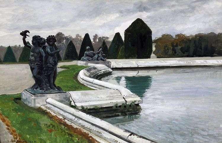 Водный партер в Версале. Осень   Александр Бенуа