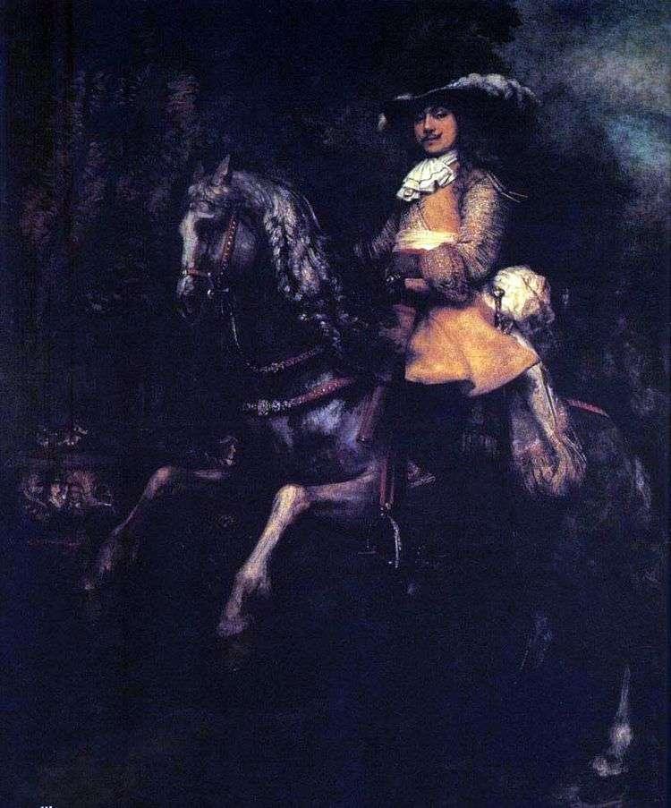 Фредерик Рил на коне   Рембрандт Харменс Ван Рейн