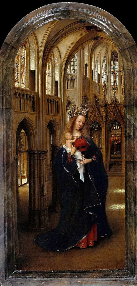 Мадонна в церкви   Ян ван Эйк