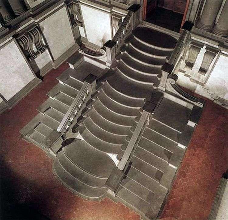 Лаврентьевская библиотека   Микеланджело Буонарроти