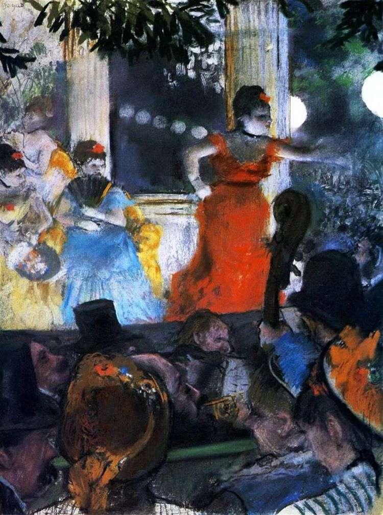 Кафешантан Амбассадор (Кафе Концерт в Амбассадоре   Эдгар Дега