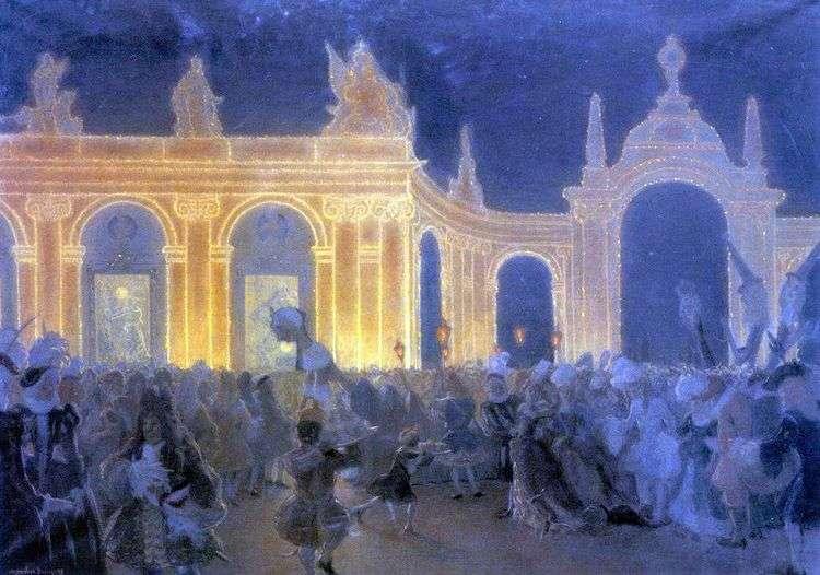 Маскарад при Людовике XV   Александр Бенуа