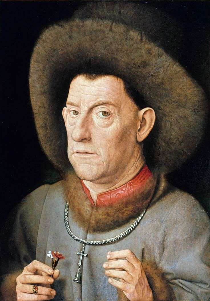 Мужчина с гвоздикой   Ян ван Эйк