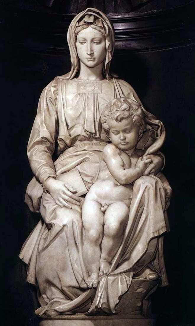 Мадонна с младенцем (скульптура)   Микеланджело Буонарроти