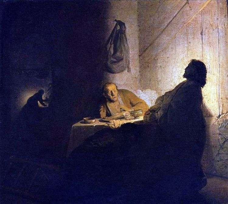Христос и ученики в Эммаусе   Рембрандт Харменс Ван Рейн