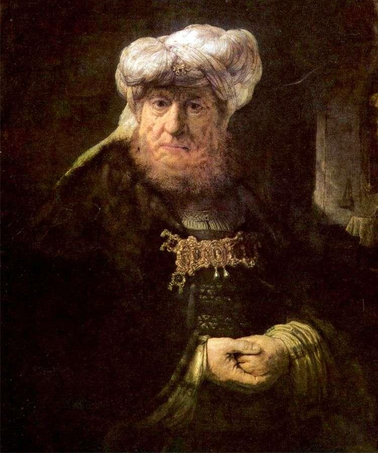 Царь Озия, пораженный проказой   Рембрандт Харменс Ван Рейн