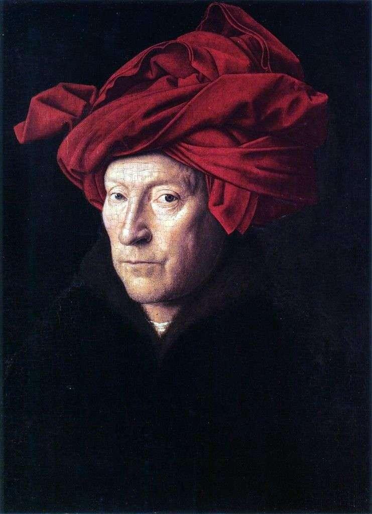 Портрет мужчины в красном тюрбане   Ян ван Эйк