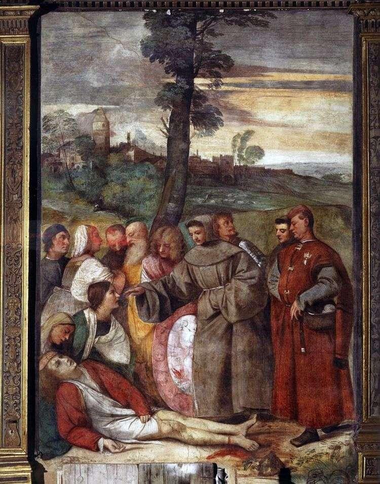 Исцеление гневного сына   Тициан Вечеллио