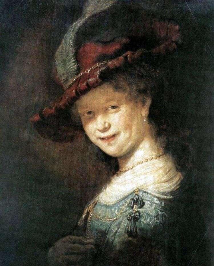 Портрет Саскии ван Эйленбюрх   Рембрандт Харменс Ван Рейн