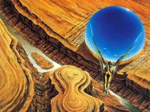 Левитатор. Картина Джима Бернса