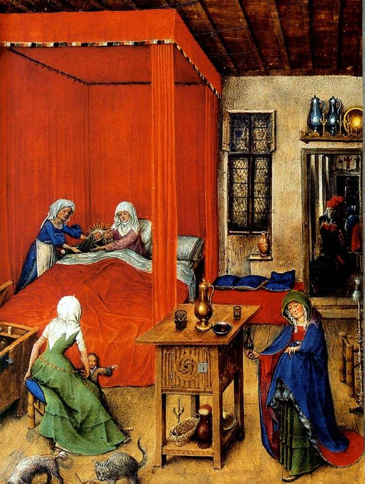 Рождение Иоанна Крестителя   Ян ван Эйк