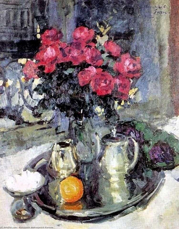 Розы и фиалки   Константин Коровин