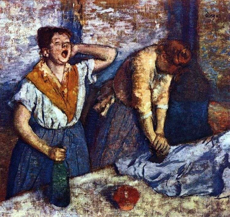 Прачки гладят   Эдгар Дега