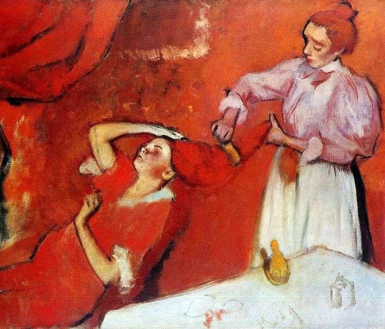 Расчесывание волос   Эдгар Дега