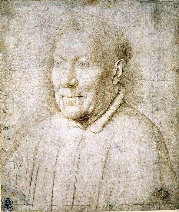 Этюд к мужскому портрету   Ян ван Эйк