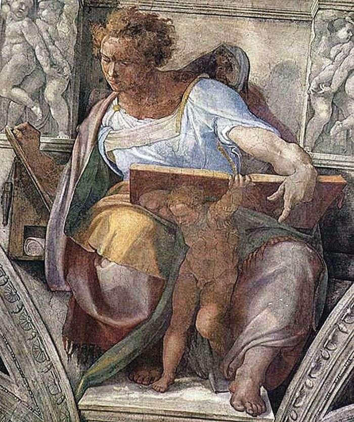 Пророк Даниил (фреска)   Микеланджело Буонарроти Буонарроти