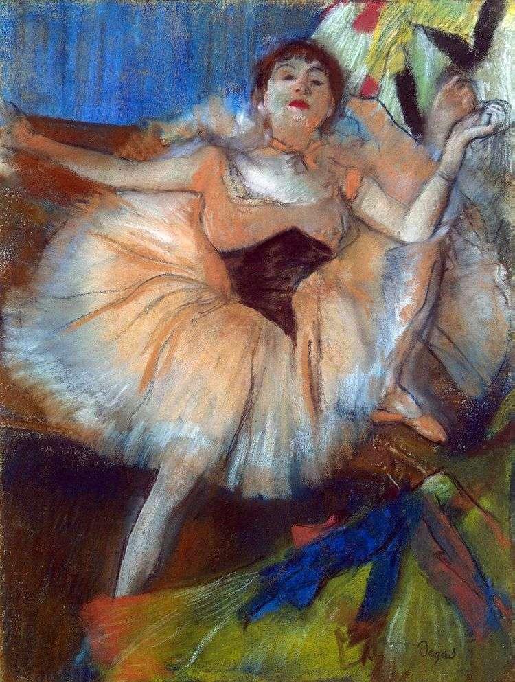 Сидящая танцовщица   Эдгар Дега