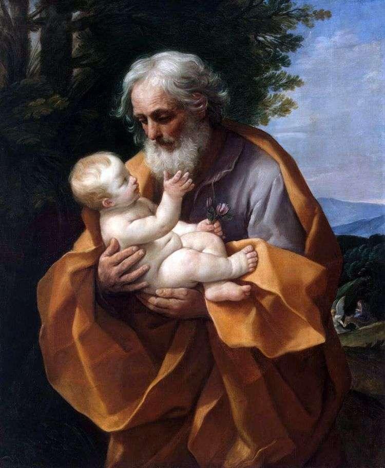 Иосиф и младенец Иисус   Гвидо Рени