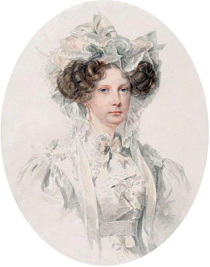 Портрет великой княгини Александры Федоровны   Петр Соколов