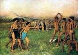 Спартанские девушки вызывают на состязание юношей   Эдгар Дега