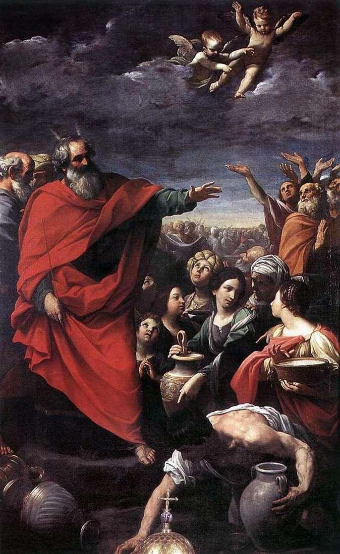 Моисей и сбор манны небесной   Гвидо Рени