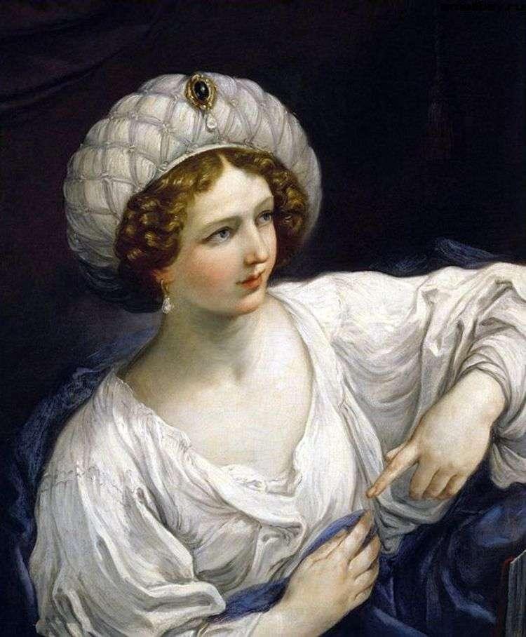 Портрет дамы в образе сивиллы   Гвидо Рени