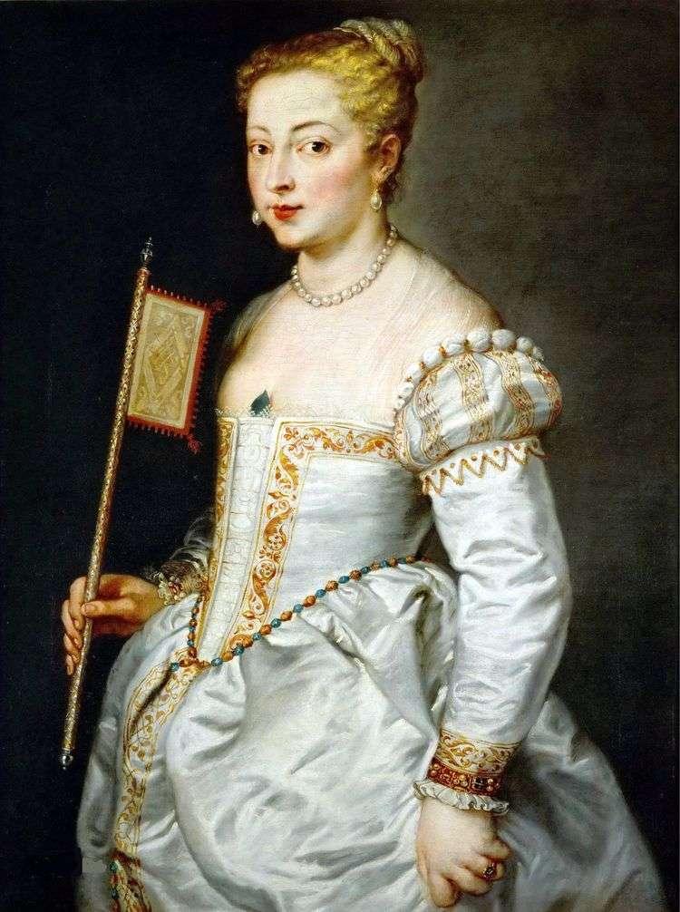 Портрет дамы в белом платье   Тициан Вечеллио