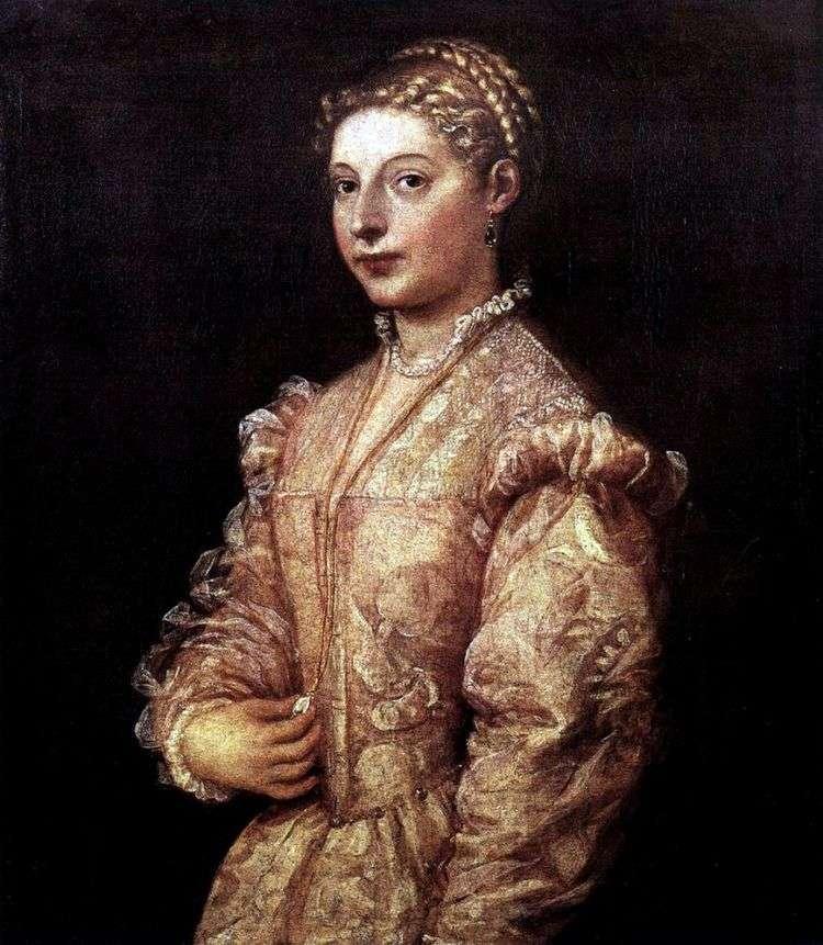 Портрет девушки   Тициан Вечеллио