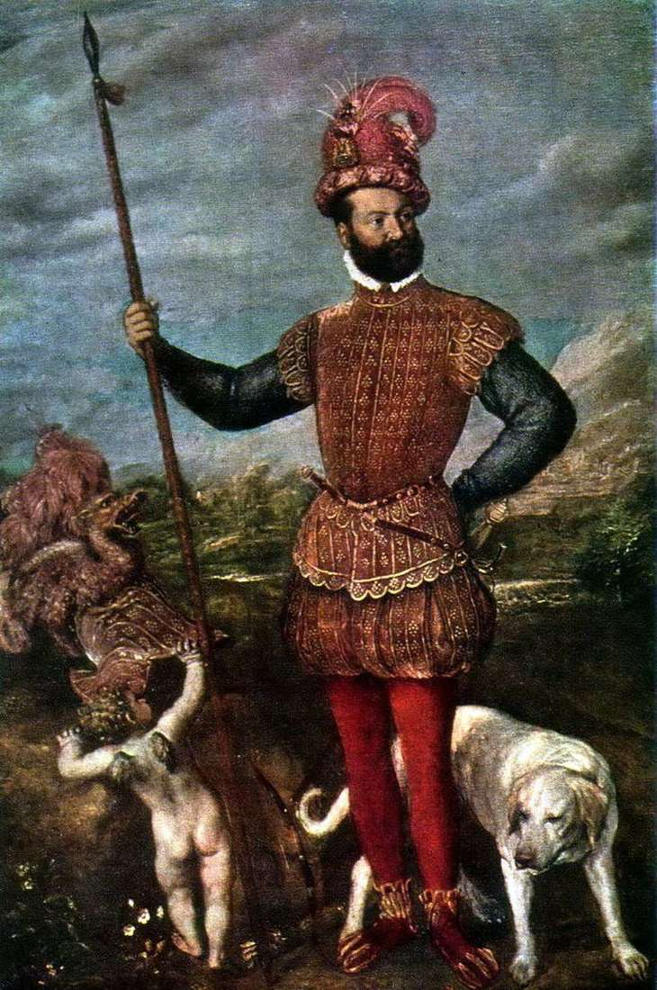 Портрет Джованни Франческо Аквавива, герцога Атри   Тициан Вечеллио