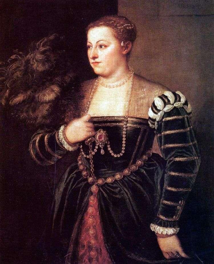 Портрет дочери Тициана Лавинии   Тициан Вечеллио